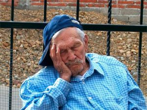 Older Person Napping