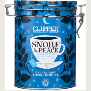 Clipper Snore and peace tea caddy - herbal tea for sleep & relaxation